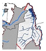 Mapa 7. Amenaza-riesgo por inundación pluvial de la zona de drenaje oriental (Tr 50 años)