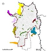 Mapa 17. Ecoparques, parques y zonas verdes de la estructura ecológica principal