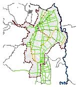 Mapa 31. Red básica de ciclo- rutas priorizadas